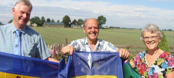 Een nieuwe vlag voor Teun en Annie Steur